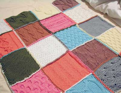 Free Knitting Patterns For Baby Patchwork Blankets : knitted baby blanket Dlectric Blanket